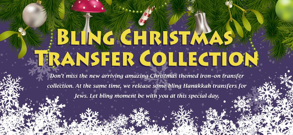 Bling Christmas Transfer Collection
