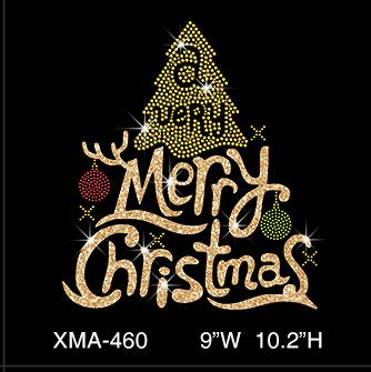 custom-glitter-golden-merry-christmas