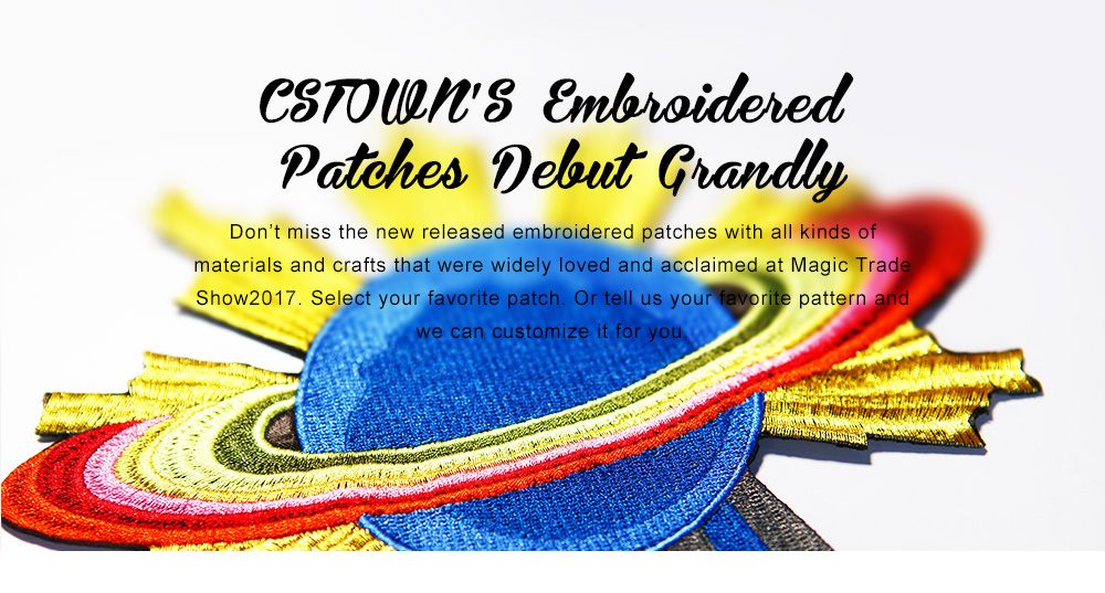 Embroidered Patches Strike Grandly