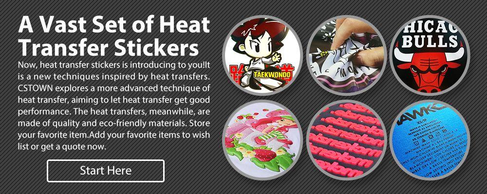 A Vast Set of Heat Transfer Stickers