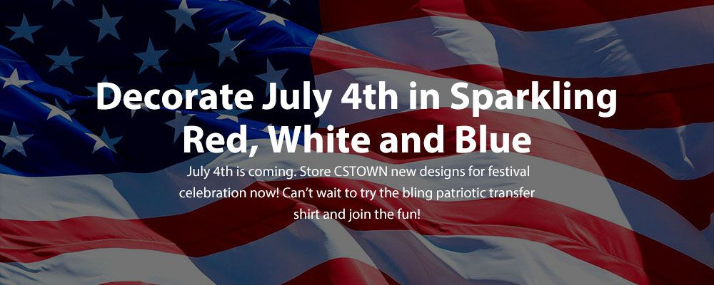 Decorate July 4th in Sparkling Red, White and Blue