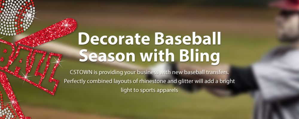 Decorate Baseball Season with Bling