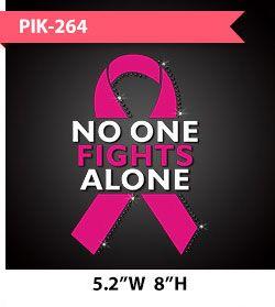 no-one-fights-alone-pink-ribbon-motif