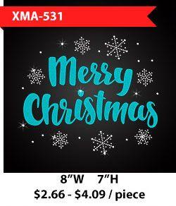 wholesale-flock-blue-letters-merry-christmas