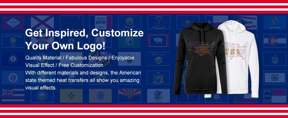 American State Themed Heat Transfer