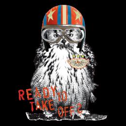 Ready To Take Off Pilot Owl Hot Fix Heat Transfer Vinyl for T-shirt