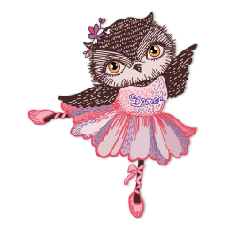 Dance Owl Cute Custom Printable Iron on Vinyl Transfer Design