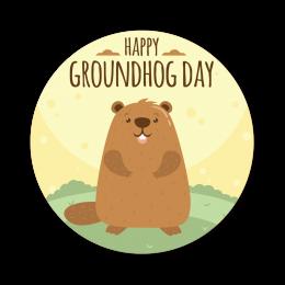 Happy Groundhog Day Custom Cut Iron on Vinyl Graphics Transfer Design