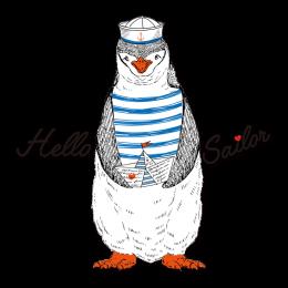 Hello Sailor Penguin Hot Fix Printable Heat Transfer Vinyl