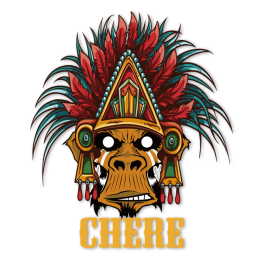 Chere Indian Baboon Multicolor Printable Vinyl Iron ons for Garment