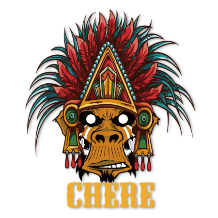 graphic about Printable Iron Ons named Chere Indian Baboon Multicolor Printable Vinyl Iron ons for