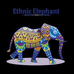 Ethnic Elephant Digital Printable Vinyl Heat Press Transfer for Children