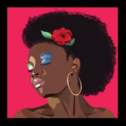 Fashion Modern Afro Girl Bulk Heat Press Vinyl Transfer for Shirts