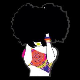 Natural Hair Lady Fashion Vinyl Printable Iron on Transfer