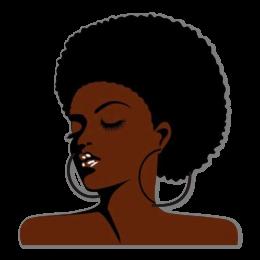 Vintage Afro Girl Printable Heat Transfer
