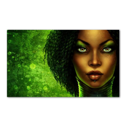 Afro Girl Precut Transfer