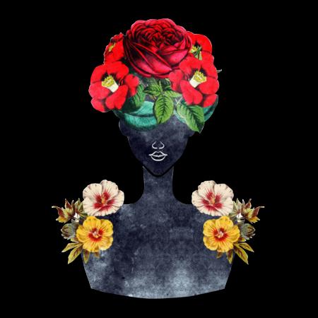 Floral Vintage Girl Heat Transfer Vinyl