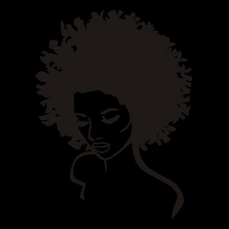 Afro Girl Digital Transferred Heat Press Design