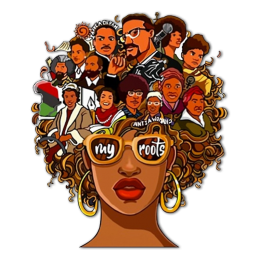 My Roots Afro Girl Heat Transfer