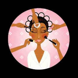 Make Up Afro Girl Digital Transfer