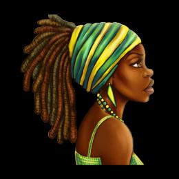 Vintage Afro Girl Heat Transfer Vinyl