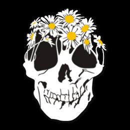 Floral Skull Heat Transfer Vinyl Design