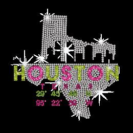 Sparkling Houston Hotfix Rhinestone Glitter Transfer