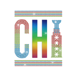 Bling Chicago Hotfix Rhinestone Holofoil Transfer for Fabric