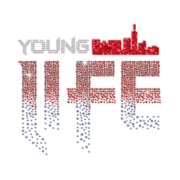 Bright Young Life Hotfix Rhinestone Glitter Tranfer