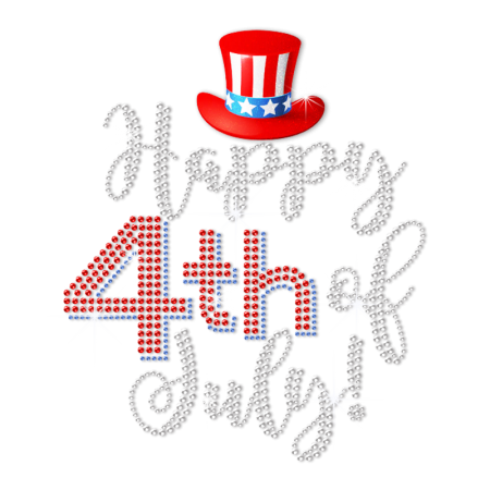 Sparkling Happy 4th of July Heat Transfer