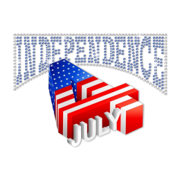 Amazing July 4th Heat Transfer Design for 3D Effect