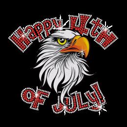 Glittering Eagle Happy 4th of July Heat Transfer