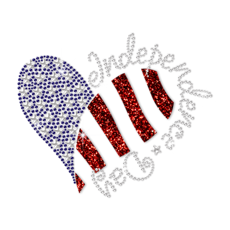 Independence Day Heart Design Heat Transfer