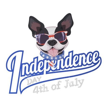 Independence Day & Cute Dog Patter Heat Transfer