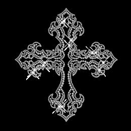 Nailhead Cross Hot Fix Pattern