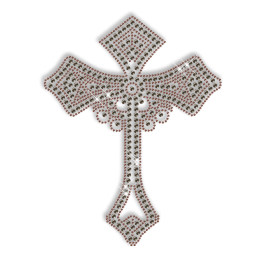 Nailhead and Antique Metal Cross Iron on Pattern