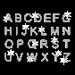 Neatly Written Alphabet Hot-fix Rhinestone Motif