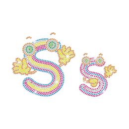 Cute Letter S Iron-on Rhinestone Transfer