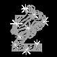 Crystal Z for Zebra Iron on Rhinestone Transfer Decal