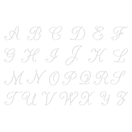 Rhinestone Crystal Shining Alphabet Iron on Motif