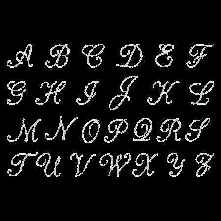 Rhinestone Crystal Shining Alphabet Iron on Motif
