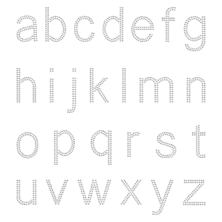 Crystal Lowercase Alphabet Rhinestone Iron ons