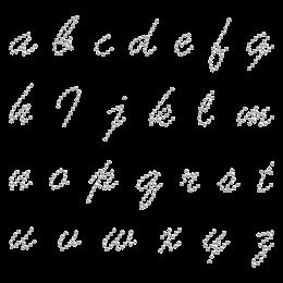 Hot-fix Free Style Alphabet Rhinestone Pattern