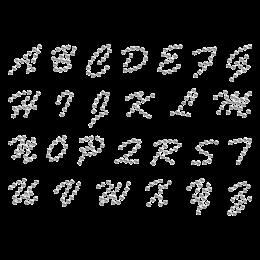 Simply-designed Alphabet Hot-fix Rhinestone Transfer
