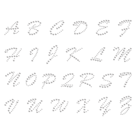 Hot-fix Crystal Capital Alphabet Rhinestone Image