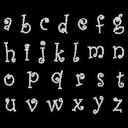Crystal Cute Alphabet Rhinestone Iron ons