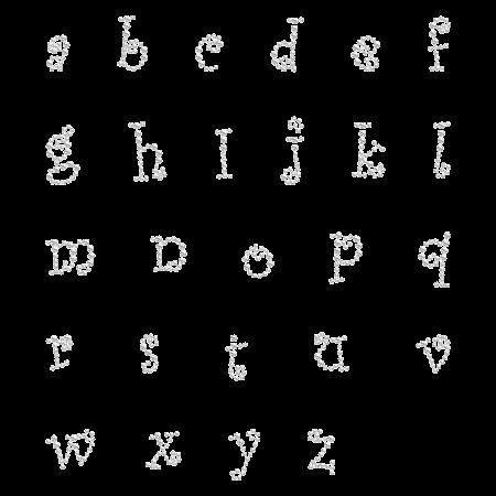 Iron on Cute Style Alphabet Rhinestone Transfer