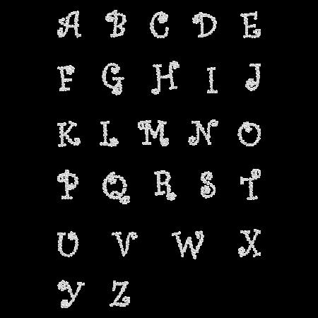Rhinestone Joyful Alphabet Hot-fix Motif