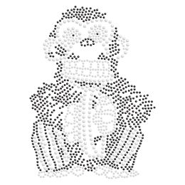 Crystal Monkey Rhinestone Iron ons