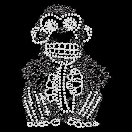 Crystal Monkey Rhinestone Iron ons